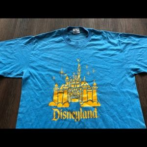 Vtg 1980s Disneyland T Shirt L 50/50 Epcot Mickey